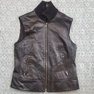 Theory Vintage Leather Vest